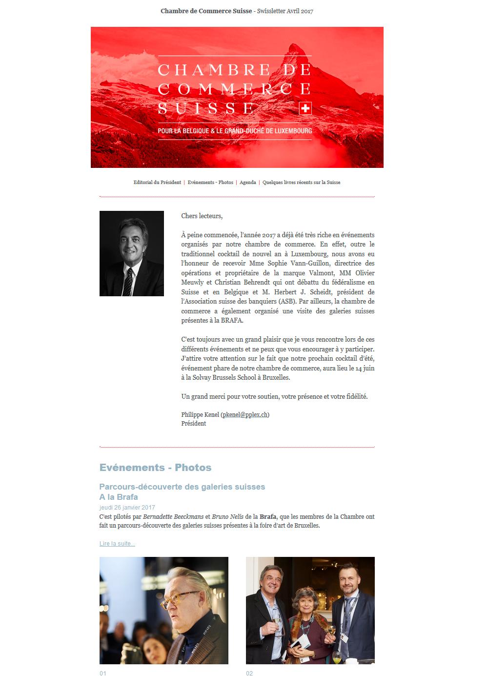 Accueil chambre de commerce suisse pour la belgique et for Chambre de commerce belgique chine